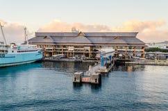 帕皮提,法属玻里尼西亚港  免版税库存图片