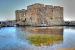 帕福斯中世纪城堡  免版税库存照片