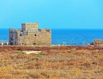帕福斯城堡,塞浦路斯 免版税图库摄影