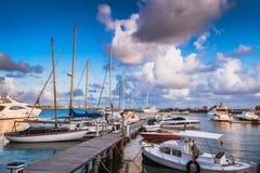 帕福斯港口看法  塞浦路斯 免版税库存图片