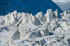 帕米尔山冷的雪冰冰川 免版税库存照片