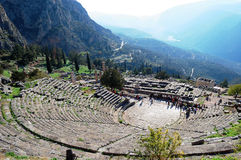 帕纳塞斯山,希腊 库存照片