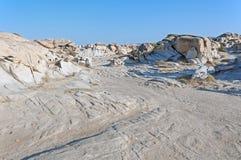 帕罗斯岛海岛Kolymbithres在希腊 库存图片