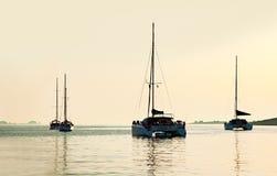帕罗斯岛,希腊停泊处  免版税图库摄影