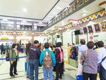 帕罗机场在不丹 库存图片