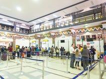 帕罗机场在不丹 免版税库存图片