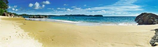 帕雅的泰国海滩全景 库存图片