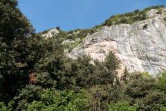 帕雷泰圣保洛在Arco攀岩区域 免版税库存照片