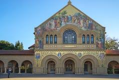 帕洛阿尔托,加州,美国- 2016年3月:史丹福大学校园 免版税库存照片