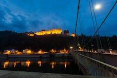 帕绍,德国夜视图  免版税图库摄影