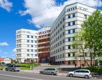 维帖布斯克荣誉兽医,白俄罗斯的状态学院命令徽章教育和实验室大厦  免版税库存图片