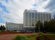 维帖布斯克,白俄罗斯千年正方形  库存图片