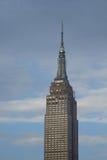 帝国大厦光亮的窗口,他们被照亮 免版税库存照片