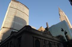 帝国大厦和遇见的生活大厦,纽约 库存照片
