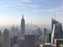 帝国大厦和Manhatt惊人的摩天大楼看法  免版税库存图片