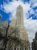 帝国大厦在纽约在春天 免版税库存图片