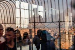 帝国大厦的观察台 免版税库存照片