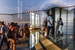 帝国大厦的观察台 免版税图库摄影