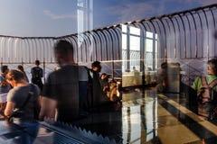 帝国大厦的观察台 免版税库存图片