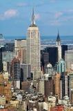 帝国大厦的鸟瞰图 免版税图库摄影