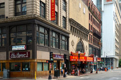 帝国庭院餐馆在历史的唐人街,波士顿 库存照片