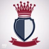 帝国设计元素 纹章学皇家冠例证 免版税图库摄影