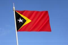 帝汶民主共和国的Leste旗子 库存照片