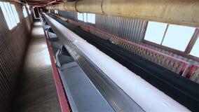 带式输送机 传送带 被颗粒化的原材料的运输对仓库的 影视素材