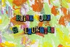带来喜悦笑声幽默 库存照片