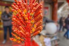 带浓味hulu中国著名街道食物豫园庭院上海市 库存图片