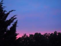 带淡红色的日落 图库摄影