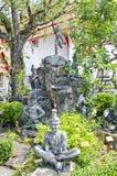 带状闪长岩在Wat Pho 库存照片