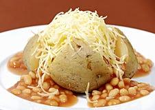 带皮烤的马铃薯 免版税库存照片
