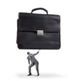 带着手提箱的商人 免版税库存照片