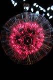 带红色桃红色闪闪发光球光 库存照片