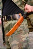 带鞘小刀做乌兹别克斯坦 库存照片