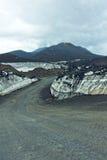 带领在Mt Etna顶部的路 免版税库存照片