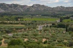 带领通过Provencal山的路 免版税图库摄影