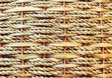 席子是被编织的藤条篮子纹理 免版税图库摄影