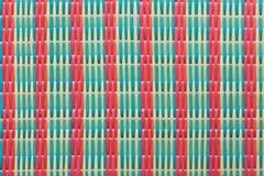 席子模式被编织的样式泰国 免版税图库摄影