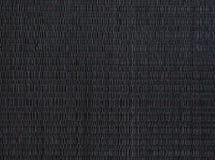 黑席子,被编织的placemat纹理 免版税库存图片
