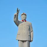 主席毛泽东的著名纪念碑 免版税库存照片