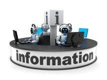 帮助台部门和AI 免版税库存图片