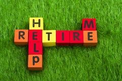 帮助我退休 免版税库存图片