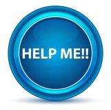 帮助我!眼珠蓝色圆的按钮 向量例证