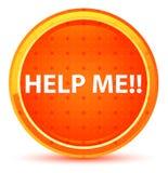 帮助我!自然橙色圆的按钮 皇族释放例证