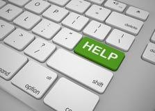 帮助按钮键盘 免版税库存图片