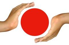帮助日本 免版税库存照片