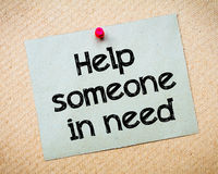 帮助某人需要的 免版税库存图片