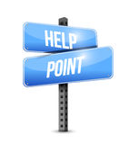 帮助点路标例证设计 免版税库存照片